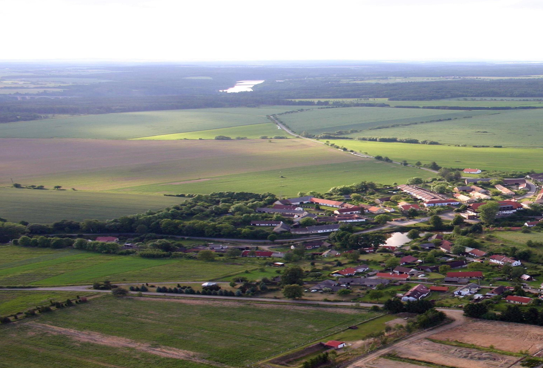 Letecký pohled na obec Olešná