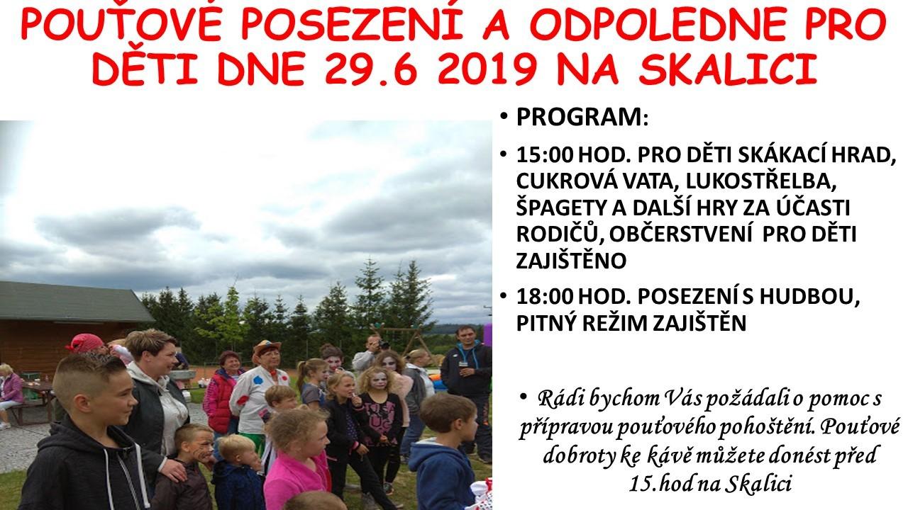 Pozvánka na pouťové posezení a odpoledne pro děti