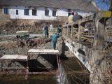 Oprava mostku,opěrné zdi a vozovky u Návesního rybníka