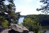 Vyhlídka Skály, cca 1km jižně od Olešné, poskytuje krásné výhledy na Vltavu v Orlické zdrži.